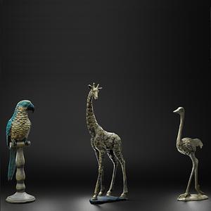Animal figurines 3D Model