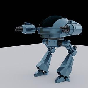 Aseistettu robotti 3D-malli
