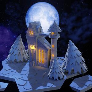 Fantasi slot scene 3D-model
