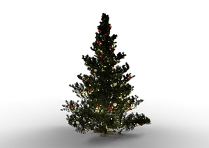 Realistic Christmas tree 3D Model