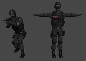 SWAT-upseeri 3D-malli