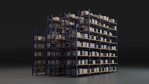 Varastoteline 3D-malli
