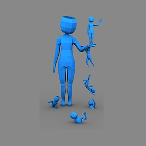 Low poly character 3D Model