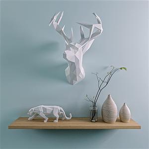 Deer wall scene 3D Model