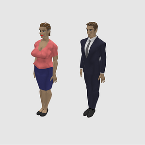 Female and Male 3D Model