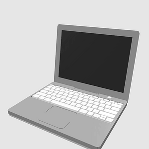 Apple iBook and iMac 3D Model