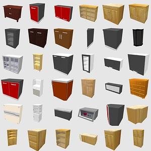 Set of Cabinets 3D Model