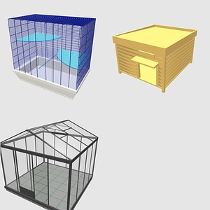 Set of Cages 3D Model