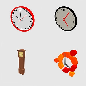 Set of clocks 3D Model