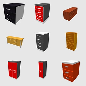 Set of drawers 3D Model