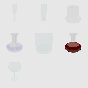 Set of glasses 3D Model