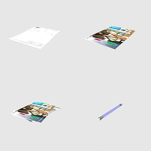 Set of magazines 3D Model