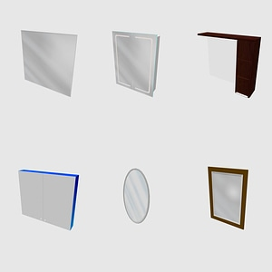 Set of mirrors 3D Model