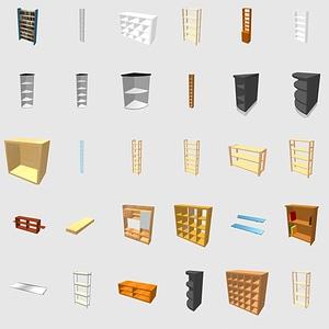 Set of shelves 3D Model
