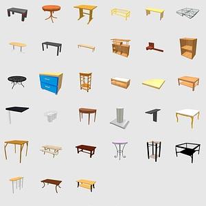 Набор столов 3D модель