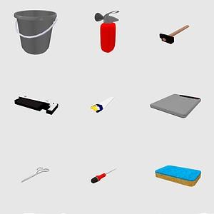 Set of tools 3D Model