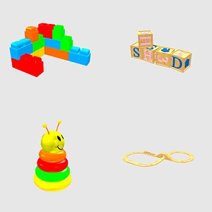 Set of toys 3D Model