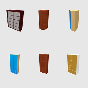 Modelo 3D de Conjunto de roupeiros