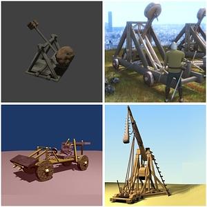 Catapults 3D Model