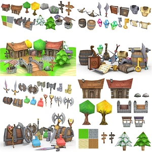 RPG Village Pack 3D Model