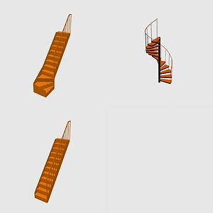 Set of Staircases 3D Model