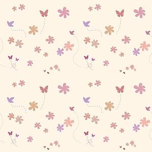 Butterflies Wallpaper Texture 3D Model