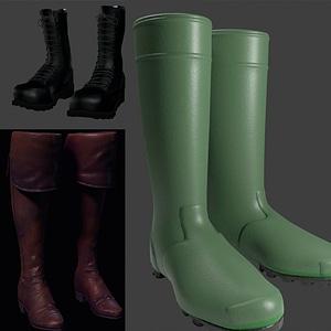 Boots set 3D Model