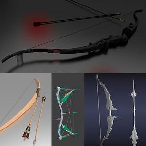 Bows Set 3D Model
