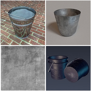 Buckets Set 3D модель