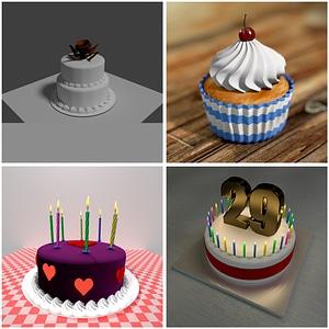 Cakes Set 3D Model