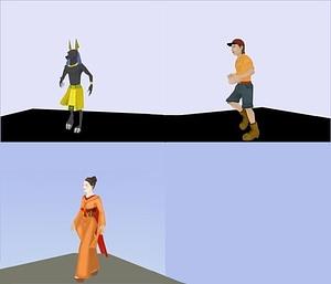 Characters Set 3D Model