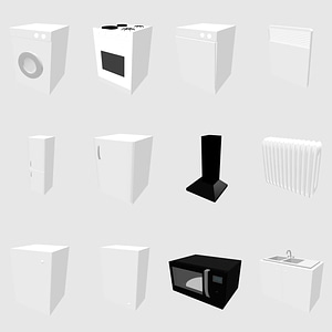Set of Kitchen Appliances modelo 3D