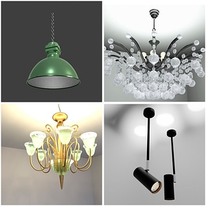Ceiling Lamps Set 3D Model