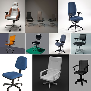 Office chairs 3d 3D Model
