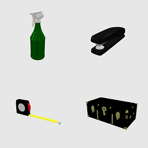 Set of Accessories 3D Model