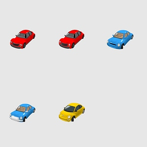 Set of Cars 3D Model