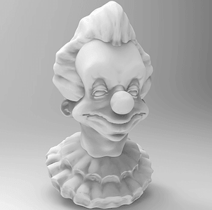 Smiling Clown Bust 3D Model