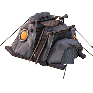 Fantasy Tent House 3D Model
