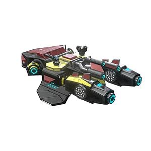 Nave espacial modular modelo 3D