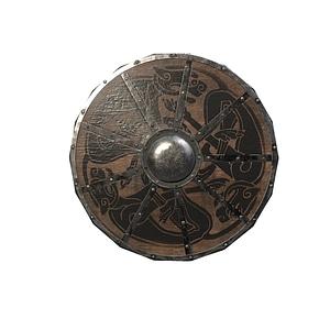 Set of Viking Shields 3D Model
