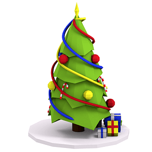cartoon christmas tree 3d model free download creazilla cartoon christmas tree 3d model free