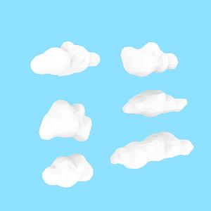 Wolken 3D-Modell