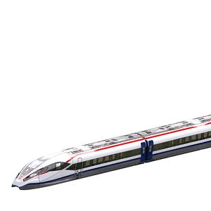 Hochgeschwindigkeitszug 3D-Modell