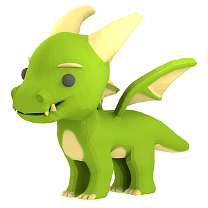Cartoon Dragon 3D Model