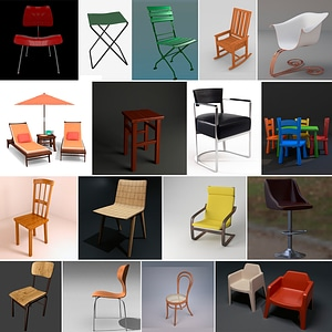 Set of Chairs 3D 모델