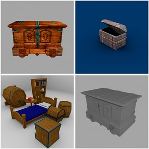 Chests Set 3D Model
