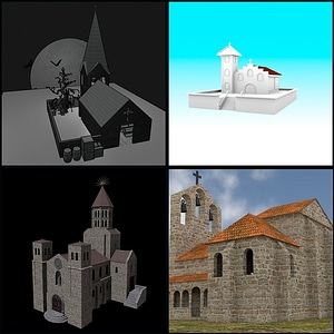 Churches Set 3D Model
