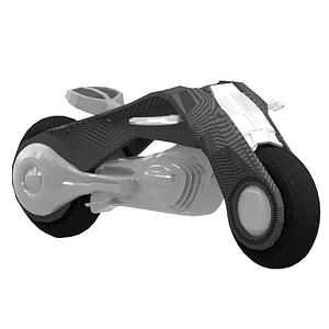 Futuristisches Motorrad 3D-Modell