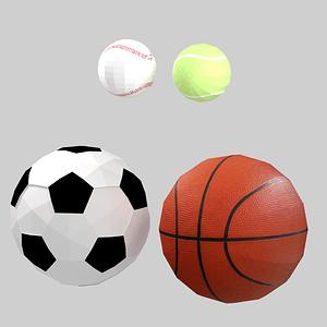 Set of Balls 3D Model