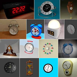 Clocks Set 3D Model